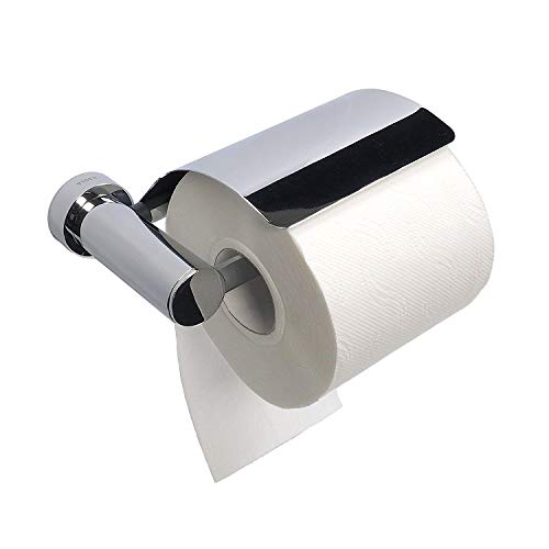 Tiger Papierrollenhalter mit Deckel Toilettenpapierhalter WC-Rollenhalter Verdi | chrom