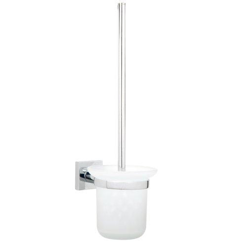 Nie Wieder Bohren hukk Toilettenbürstenhalter, verchromt, inkl. Klebelösung, hohe Haltekraft (bis 6kg), 390mm x 115mm x 165mm