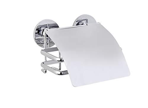 """Wenko 22755100 Toilettenpapierhalter mit Deckel """"Cali"""" mit Express-Loc, Edelstahl, Silber, 13.5 x 14 x 8.5 cm"""