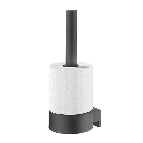 Tiger 2879.3.07.46Reserve-Toilettenpapierhalter, Metall, Schwarz, 12x 10.1x 27.2cm