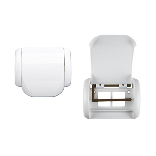 Lantelme 6918 Toilettenpapierhalter für Bad und Toilette Kunststoff Weiss 17 x 16 x 5 cm