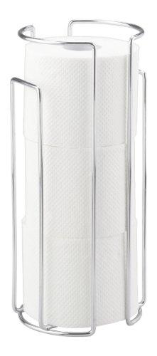 WENKO 16825100 Toilettenpapier-Ersatzrollenhalter Chrom - für 3 Rollen, Stahl, 13.5 x 32 x 14 cm, Chrom