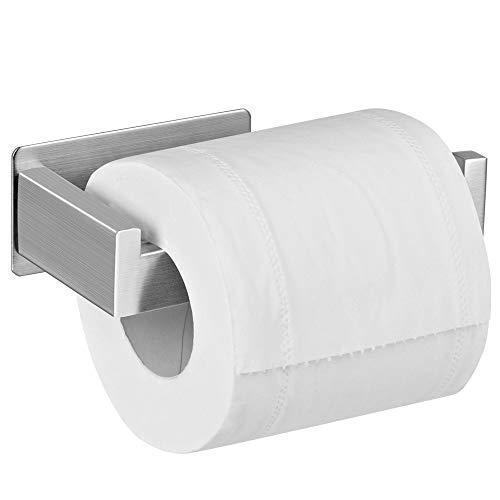 Aikzik Toilettenpapierhalter Ohne Bohren, Selbstklebend Toilettenpapierrollenhalter Edelstahl Klopapierhalter Wc Halter Rollenhalter Klorollenhalter Papierhalter für Küche und Badzimmer