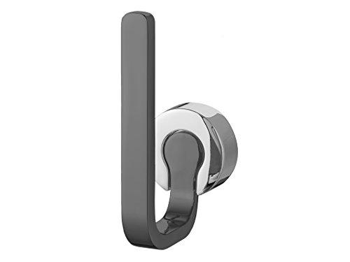 """Bisk Zusätzlicher Toilettenpapierhalter """"Ventura"""", Chrom/grau auf Zink, 5cm x 12,9cm x 7,7cm"""