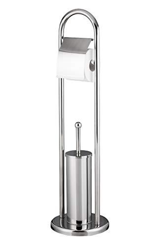 Metlex Stand WC Garnitur 2 in 1 Papierhalter Toilettenbürste Ständer Klobürste Rollenhalter Bürstenhalter Papierrollenhalter