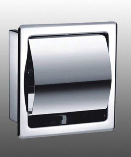 Toilettenpapierhalter AGUTE Single ,Matt, Unterputz aus hochwertigem Edelstahl,