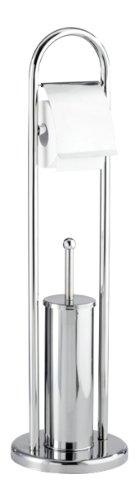 Wenko 16993100 Exclusiv Stand WC-Garnitur Vasto, Edelstahl rostfrei, 22 x 81 x 22 cm, Glänzend