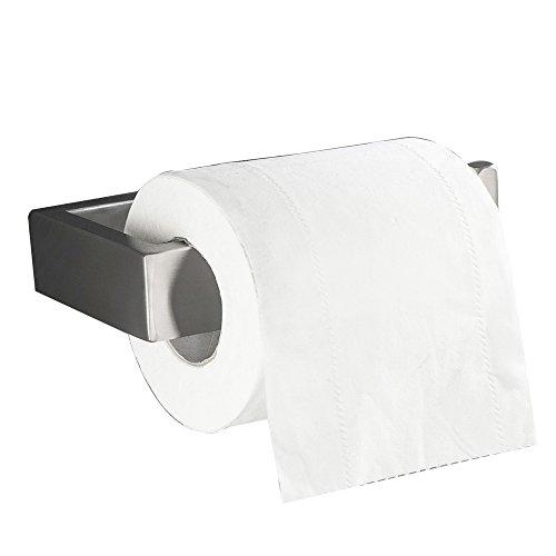 Flybath Bad WC-Rollenhalter ohne Deckel SUS 304 Edelstahl Gebürstetes Silber Toilettenpapierhalter Wandmontage