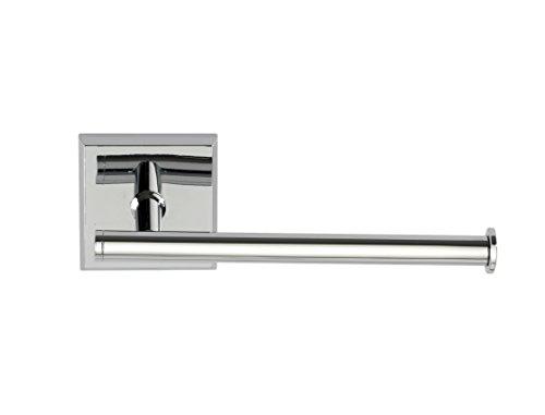 Wenko 23411100 Power-Loc® Toilettenpapierhalter ohne Deckel Laceno - Papierrollenhalter, Befestigen ohne Bohren, 15.5 x 5.6 x 7.5 cm