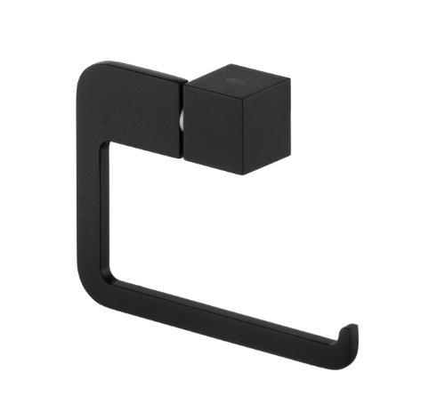 Wand-Toilettenpapierhalter schwarz Klopapierhalter Edelstahl - Modell B063 | Rollenhalter für die Wandmontage | Möbelbeschläge von GedoTec®