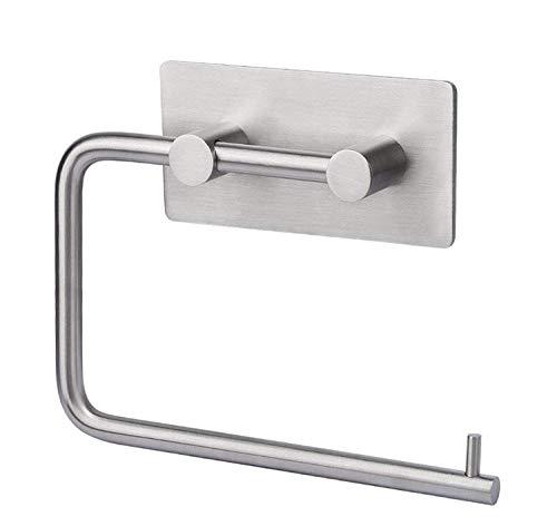LEBEXY Toilettenpapierhalter zum kleben Klopapierhalter Klopapierrollenhalter ohne Bohren Papierhalter Klorollenhalter Selbstklebend Toilette Toilettenpapier, Edelstahl, für Küche und Badzimmer