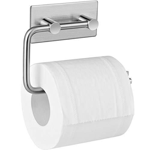 TOOGOO Toilettenpapierhalter Toilettenpapierhalterung Ohne Bohren Papierhalter Selbstklebend Toilettenpapierrollenhalter Edelstahl Klopapierhalter Papierrollenhalter Toilette Halter