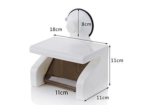 Toilettenpapierhalter/WC Papier Snackverpackung mit Sucker Wasserdicht WC-Papier Box
