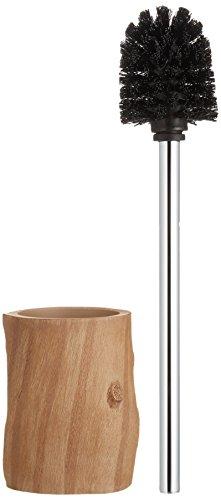 Wenko 21041100 WC-Garnitur Forest - elegante Holzoptik, Polyresin, 10.6 x 39 x 10.7 cm, Braun