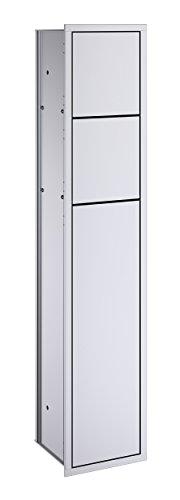 Emco 978305050 Unterputz WC Modul Public Asis 150 aluminium, Türanschlag links, 809 mm