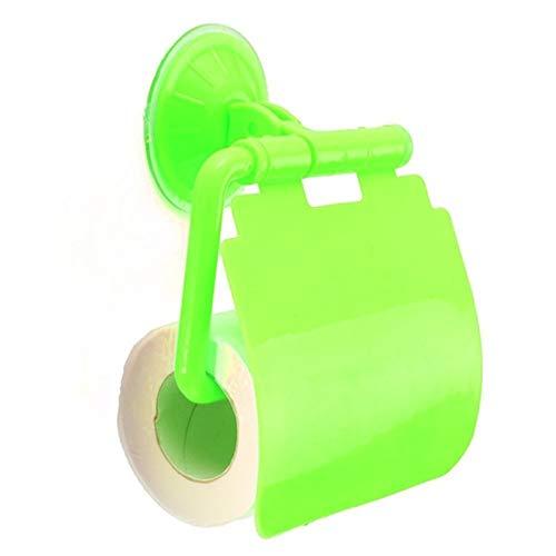F-eshion Toilettenpapierhalter, Wand-Saugnapf für Racks Toiletten-Sauger Seidenpapierrolle Modeabdeckung Aufbewahrungsbox (Grün)