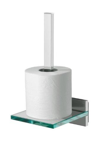 Tiger 262930346 Safira Toilettenpapierhalter für Ersatzrollen, chrom