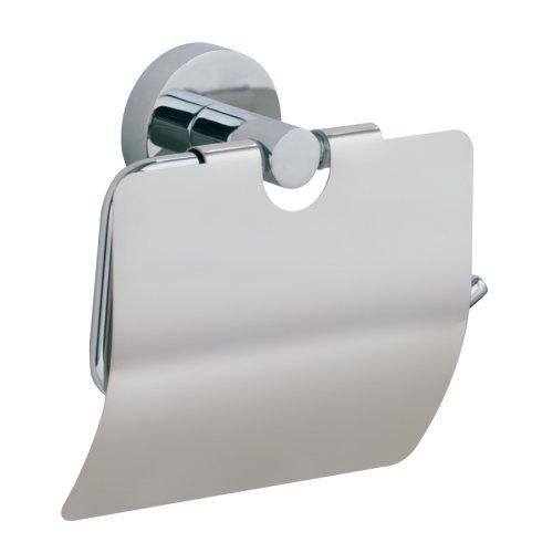 Nie Wieder Bohren hoom WC-Toilettenpapierhalter, mit Deckel, Messing, verchromt, garantiert rostfrei, 132mm x 150mm x 64mm