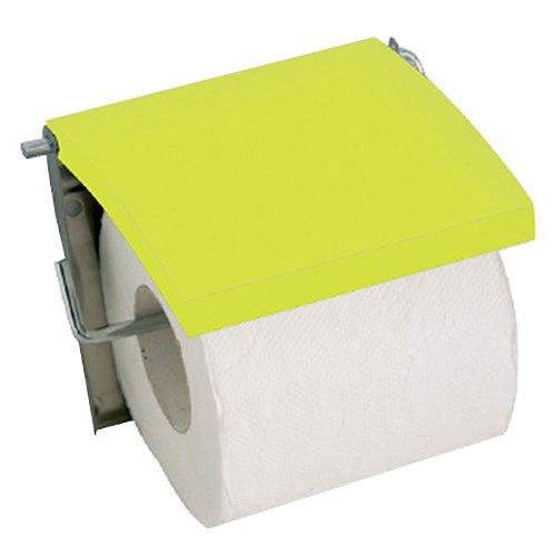 MSV 2108342Toilettenpapierhalter in Edelstahlsieb/MDF grün