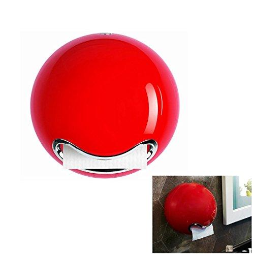 Toilettenpapierhalter Papierhalter kleben rot