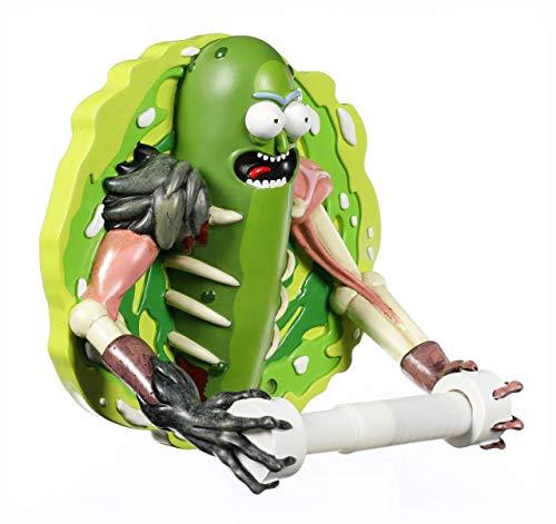 Nemesis Now Pickle Rick Toilettenpapierhalter, 22,5 cm, Kunstharz, Grün