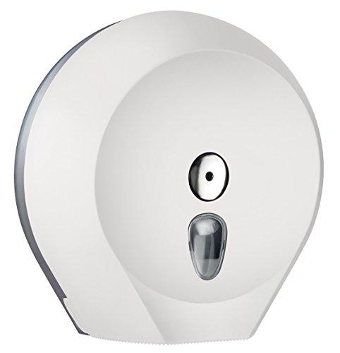 Toilettenpapierspender Weiß - Abschließbar - für Großrolle Ø 29 cm
