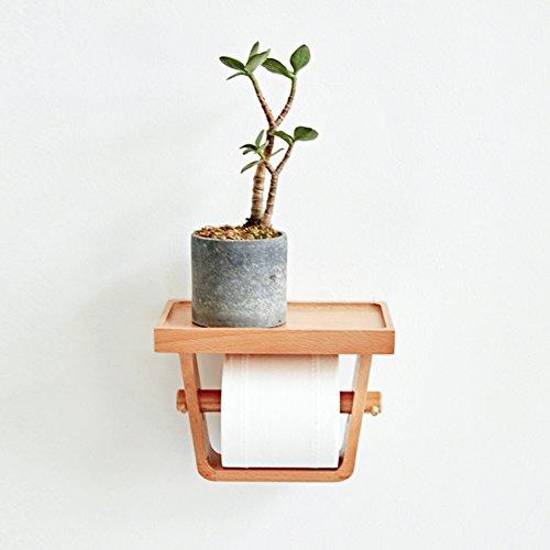Wc papierhalter, Wasserdicht Toilettenpapierhalter ständer Wandhalterung Regal Mit kreativen düfte-Holz