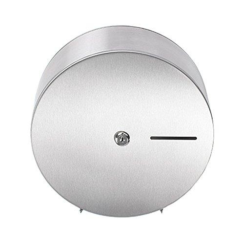 Sanixa EMA845-SS Qualitäts Toilettenpapier-Spender für 1 Jumbo Rollen | Wand-Montage | Edelstahl rostfrei | WC Papierrollenhalter Halter
