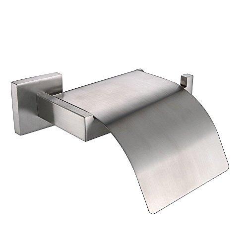Weare Home Wandmontag Wandhalterung Badezimmer Zubehör 304 Edelstahl Gebürstet Modern Einfach Elegant Silbern Toielttenpapierhalter Klorollenhalter mit Deckel Wasserdicht