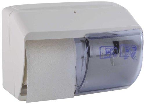 Funny Spender für Toilettenpapier, abschließbar, für 2 handelsübliche Rollen , weiß, 1er Pack (1 x 1 Stück)