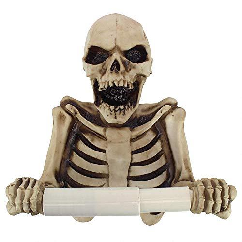Toilettenpapierhalter - Knochen Dry Skelett Badezimmer-Dekor - Toilettenpapier-Rolle - Badezimmer-Wand-Dekor