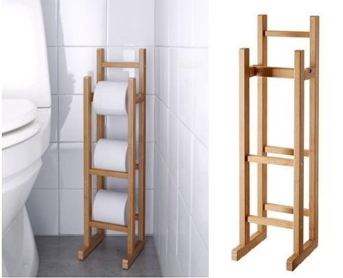 Generic NV 1001006326-lm52-uk * 1* * 6326* * Holz Aufbewahrung Toilettenpapierhalter Bambus Bambus WC Ältere W Stilvollen Badezimmer athroom freistehend Stilvollen Badezimmer