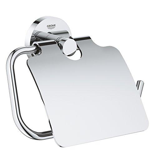GROHE Essentials | Badaccessoires - WC-Papierrollenhalter | mit Deckel, chrom | 40367001
