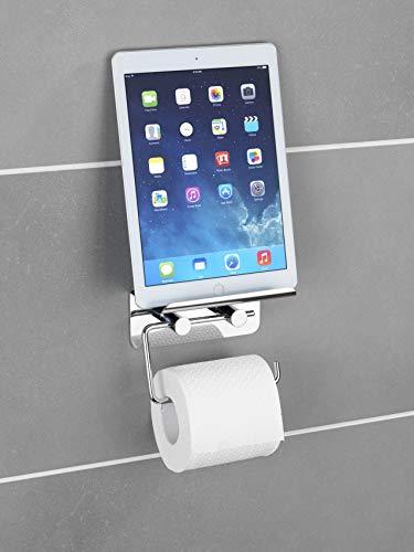 Wenko Toilettenpapierhalter, Edelstahl, Silber, 7 x 14 x 11.5 cm