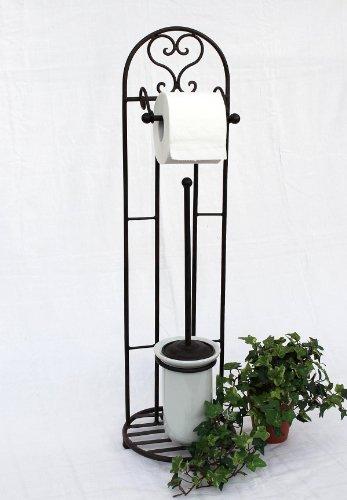 Toilettenrollenständer 81 cm mit Bürste 95227 Toilettenpapierhalter Rollenhalter