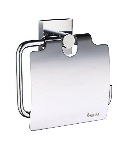 "Smedbo ""House verchromtem Toilettenpapierhalter mit Deckel, silber"