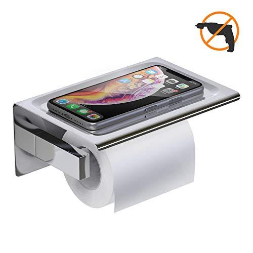 YF wonder life Toilettenpapierhalter ohne Bohren, selbsteklebend edelstahl Toilettenpapierhalter, Papierrollenhalter für Badezimmer und Küche.