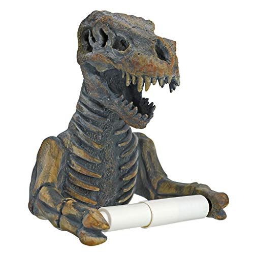 Toilettenpapierhalter - T. Rex Fossil-Skelett Dinosaurier-Badezimmer-Dekor - Toilettenpapier-Rolle - Badezimmer-Wand-Dekor