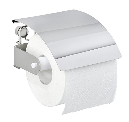 Wenko 22774100 Toilettenpapierhalter Premium Plus WC-Rollenhalter, Edelstahl rostfrei, glänzend, 12.5 x 14 x 8.5 cm