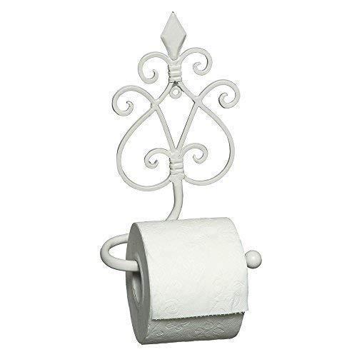 G1263: Retro Toilettenpapierhalter, Papierrollenhalter, Klorollenhalter in Weiß