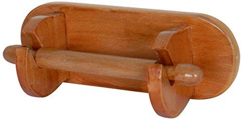 MSV 140234 Toilettenpapierrollenhalterung, Eiche/Kiefer, 23x8,3x10 cm