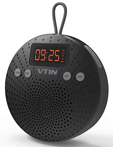 VicTsing Bluetooth Lautsprecher, Mini Bluetooth 4.0 Speaker mit FM Radio 5W Tragbarer Wasserdichte Wireless Lautsprecher mit Wecker Funktion Freisprecheinrichtung für Outdoor, Dusche