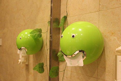 Yiyida Rund Toilettenpapierhalter aus Kunststoff mit 7 Karikatur Aufkleber