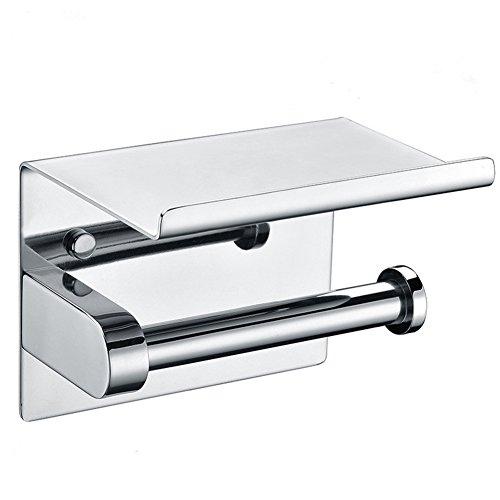 Aothpher- Toilettenpapierhalter aus hochwertigem Edelstahl 304,Chrom-Finish, Rollen Toilettenpapier Regal im Badezimmer