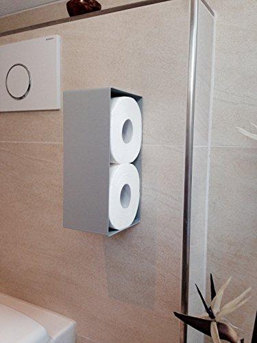 Toilettenpapierhalter Ersatzrollenhalter WC Bad Toilette silber selbstklebend ohne bohren