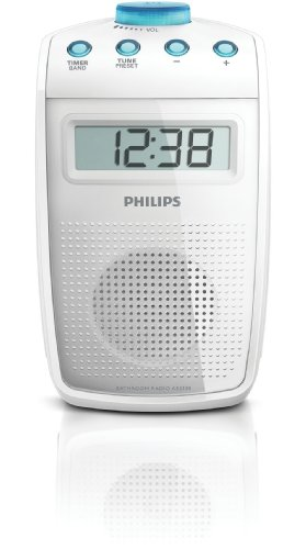 Philips AE2330 Tragbares Duschradio (UKW-/MW-Tuner, LC-Display) weiß