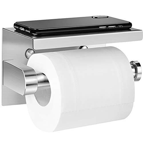Aikzik Toilettenpapierhalter Ohne Bohren, Selbstklebend Toilettenpapierrollenhalter Edelstahl Klopapierhalter, für Küche und Badzimmer WC