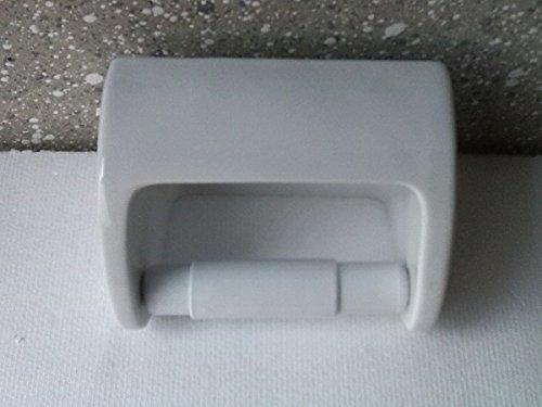 Unbekannt Toilettenpapierhalter aus Porzellan glatt weiß