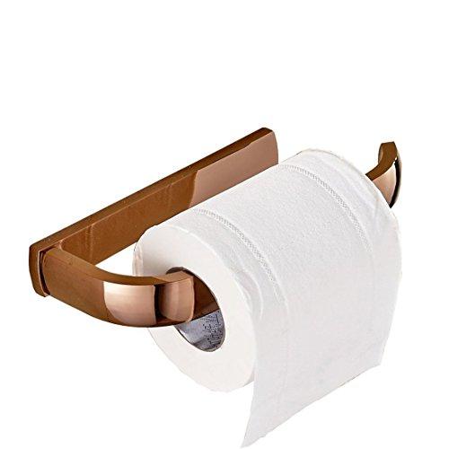 Aothpher Vollständige Kupfer Wand-Toilettenpapierhalter , Kupfer, Rose Gold, 200*90*27mm