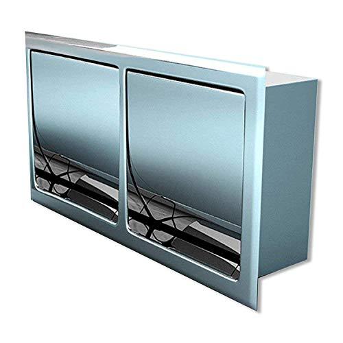 Sogood Design Unterputz-Toilettenpapierhalter Cub32B edel verchromt für zwei Toilettenpapierrollen